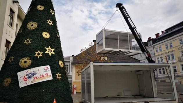 Auf dem Villacher Hans-Gasser-Platz wird das Weihnachtswunder über die Bühne gehen. (Bild: villach.at)