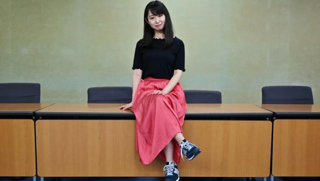 Die 32-jährige Aktivistin und Autorin Yumi Ishikawa kämpft gegen das Brillenverbot und den High-Heels-Zwang. (Bild: AFP)