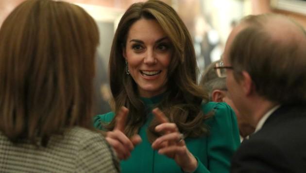 Herzogin Kate verzauberte an diesem Abend alle mit ihrem Charme. (Bild: AFP )