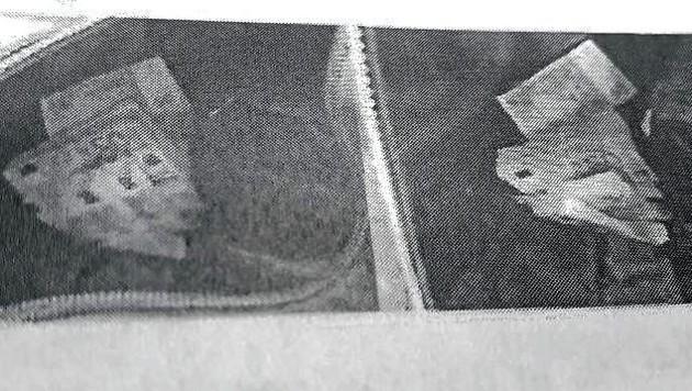 Diese Bilder sollen Sporttasche und Rucksack voller Geldbündel in Straches ehemaligem Dienstauto zeigen. (Bild: Ö1)