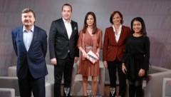 Von links: Andreas Salcher, Michael Stumpf, Katia Wagner, Sonja Hammerschmid, Jennifer Uzodike (Bild: Zwefo)