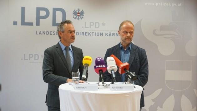 Gottlieb Türk und Karl Schnitzer informierten zu den Ermittlungen. (Bild: Elisabeth Nachbar)