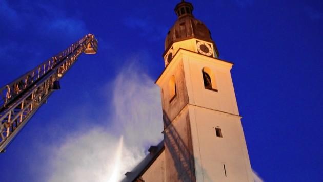Opferstockdiebe schlugen in der Kirche in Kuchl zu. (Bild: FF Kuchl)