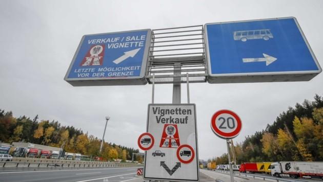Wer auf der Strecke Walserberg bis Salzburg Nord fährt, braucht künftig keine Vignette mehr (Bild: Tschepp Markus)