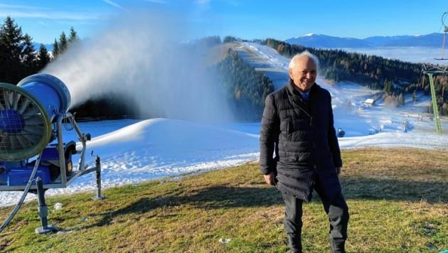 """Johann Scheiber in """"seinem"""" Skigebiet. (Bild: Steiner Clara Milena)"""