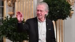 Peter Handke während seiner Nobelpreis-Vorlesung in Stockholm (Bild: APA/AFP/TT News Agency/Jonas EKSTROMER)
