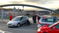Verkehrsunfall auf der Nonntaler Brücke (Bild: Markus Tschepp)