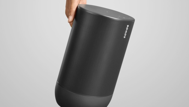 Der Sonos Move ist mit seinen drei Kilogramm vergleichsweise schwer. (Bild: Sonos)