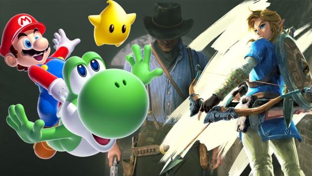 (Bild: Nintendo, Rockstar Games, krone.at-Grafik)