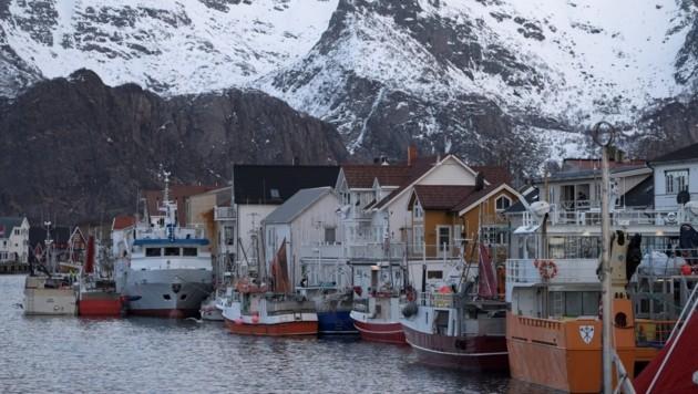 Fischerboote in Henningsvaer auf der Insel Lofoten in Norwegen (Bild: AFP)