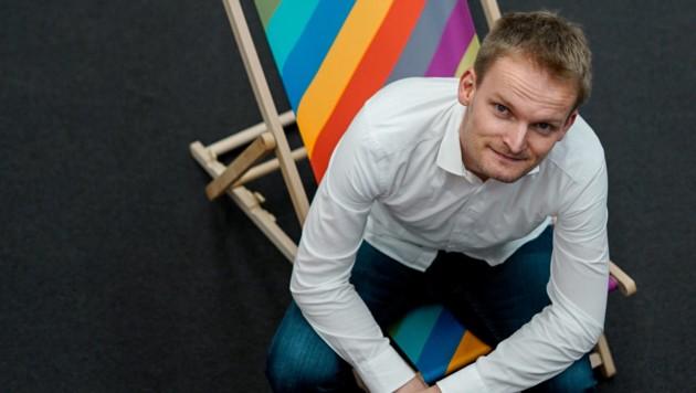 Robert Wille rührt die Werbetrommel fürs Informatik-Studium. (Bild: Markus Wenzel)