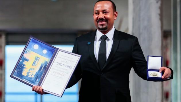 Äthiopiens Premierminister Abiy Ahmed wurde mit dem Friedensnobelpreis ausgezeichnet. (Bild: AFP)