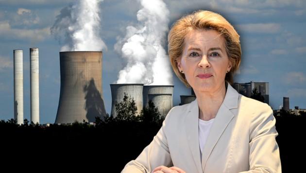 """EU-Kommissionschefin Ursula von der Leyen präsentiert den """"Green Deal"""" für Europa. (Bild: INA FASSBENDER/AFP, AP, krone.at-Grafik)"""