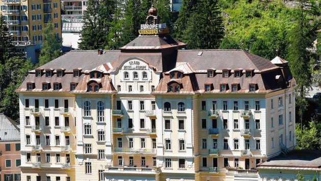 Das Grand Hotel Europe in Bad Gastein (Bild: Gerhard Schiel, krone.at-Grafik)