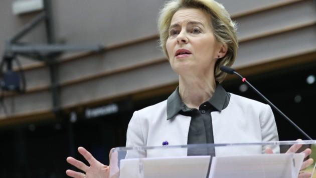"""Ursula von der Leyen bei der """"Green Deal""""-Präsentation (Bild: AFP)"""