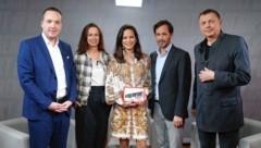 Von links: Michael Stumpf, Sophie Karmasin, Katia Wagner, Klaus Schwertner, Wolfgang Zinggl (Bild: Klemens Groh)