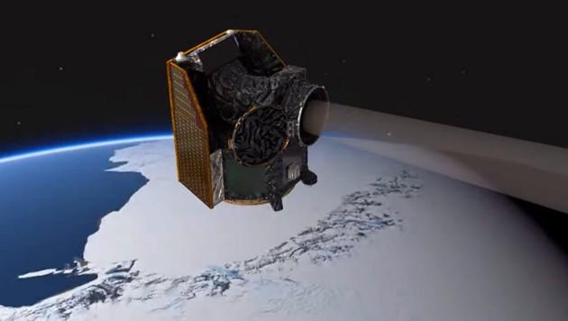 Künstlerische Illustration: Das Teleskop CHEOPS im Orbit um die Erde (Bild: ESA/ATG medialab)