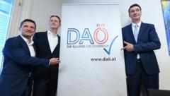 Dietrich Kops, Klaus Handler und Karl Baron (Bild: APA/Helmut Fohringer)