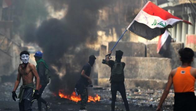 Der Irak am Rande eines neuen Bürgerkriegs (Bild: APA/AFP/AHMAD AL-RUBAYE)