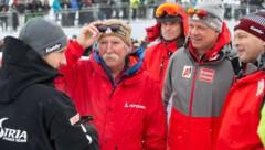 Marcel Hirscher, Ferdinand Hirscher, Anton Giger, Mike Pircher und Hans Pum (von links) (Bild: GEPA)