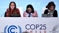 Abschlusstag der COP25 in Madrid (Bild: AFP)