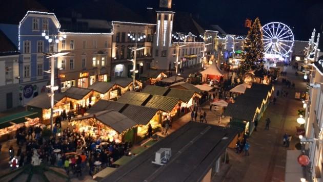 Der Leobner Christkindlmarkt (Bild: Heinz Weeber)