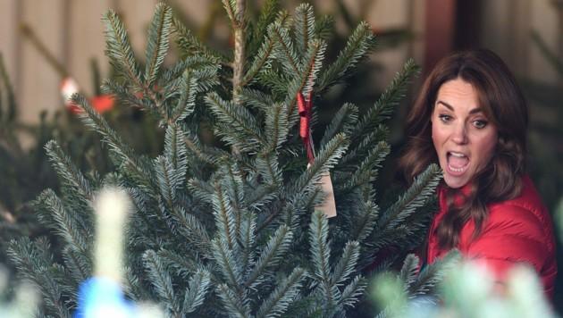 Herzogin Kate am Weihnachtsmarkt (Bild: www.PPS.at)