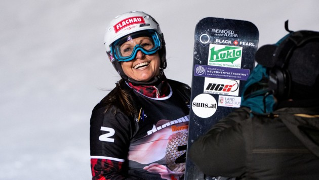 In ihrer 26. Weltcupsaison blüht Claudia Riegler einmal mehr auf. (Bild: FIS/Miha Matavz)