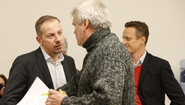 Die Verhinderer: Stephan Auer-Stüger von der SPÖ (links) und Martin Margulies von den Grünen (Mitte) (Bild: Reinhard Holl)