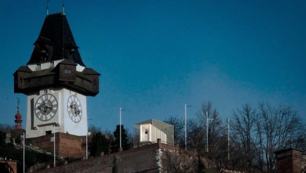 """So sieht der Pavillon aus,, in dem die Bürger im Projekt """"The Graz Vigil"""" Wache stehen. (Bild: TGV_Tovo_Jamil_Krischner)"""