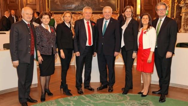 Die steirische Landesregierung (Bild: Christian Jauschowetz)