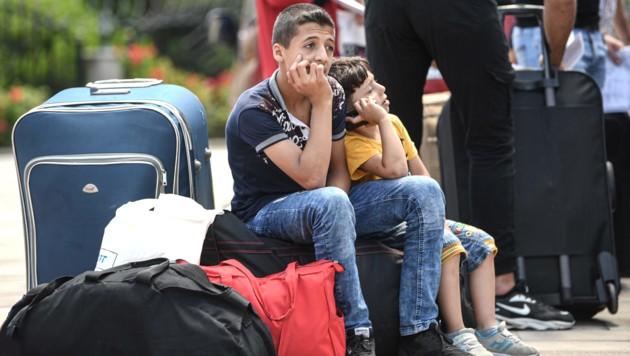 Syrische Flüchtlinge in Istanbul (Bild: AFP)