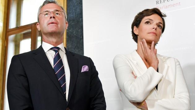 Norbert Hofer, Pamela Rendi-Wagner (Bild: APA/Roland Schlager)