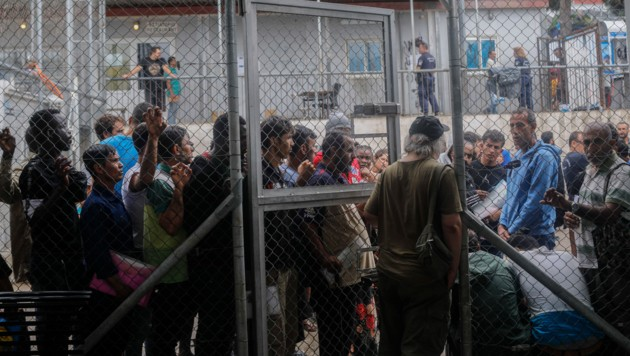 Flüchtlingslager auf Samos (Bild: The Associated Press)