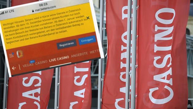 Betano stellt seine Dienste in Österreich demnächst ein. (Bild: APA/ROBERT JAEGER, betano.com)