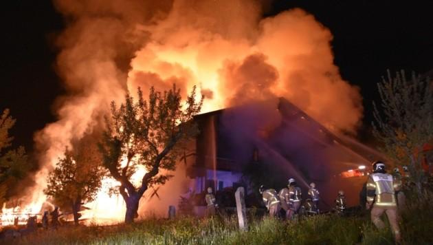 Einer der Brände in Going (Bild: zoom.tirol)