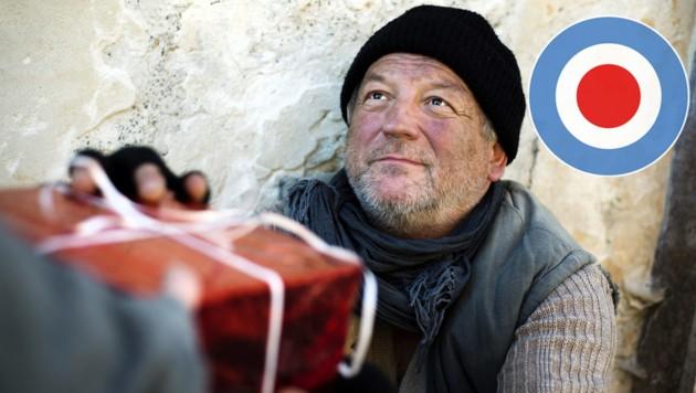 Christmas gift for homeless man (Bild: ©Halfpoint - stock.adobe.com)