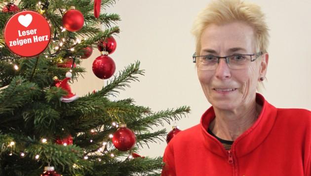 Elisabeth Flicker ist die gute Seele der Weihnachtsfeier (Bild: Rotes Kreuz)