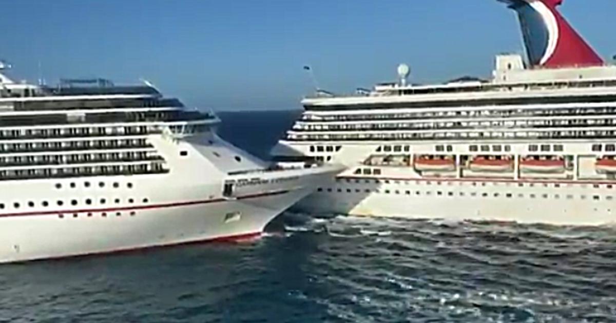 Kreuzfahrtschiffe Krachen In Karibikhafen Zusammen