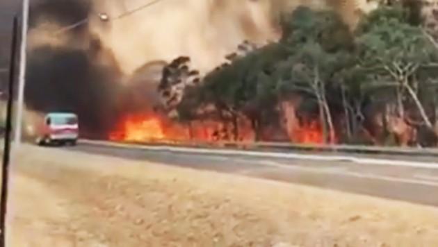 (Bild: ruptly.tv/NSW Rural Fire Service)