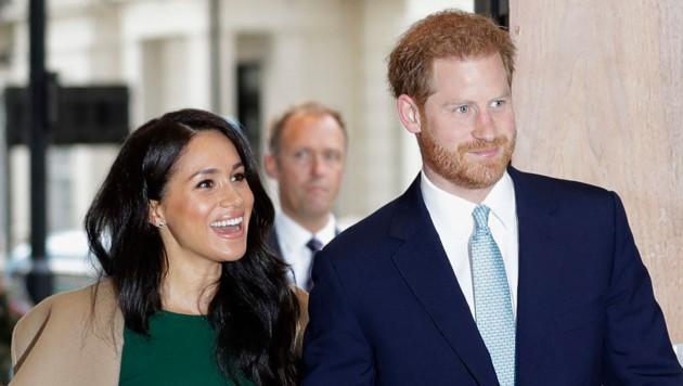 Prinz Harry und Meghan (Bild: AP)