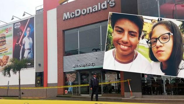 Ein Stromschlag löschte die Leben der beiden McDonald's-Mitarbeiter Alexandra Porras Inga und Gabriel Campos Zapata, 18 und 19 Jahre alt, aus. (Bild: Twitter.com/Peru_Noticias)