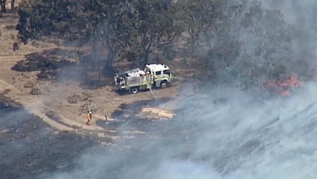 Buschbrände in den Adelaide Hills (Bild: AP)