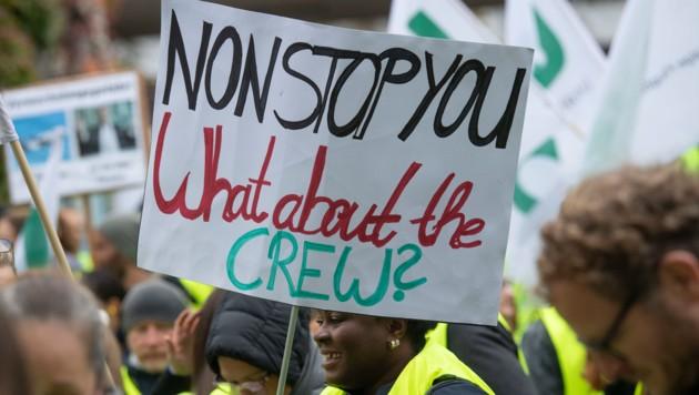 Von dem Streik im November 2019 waren rund 200.000 Passagiere betroffen. (Bild: AFP)