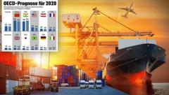Der zuletzt geschrumpfte Welthandel dürfte sich erholen. (Bild: stock.adobe.com, krone.at-Grafik)