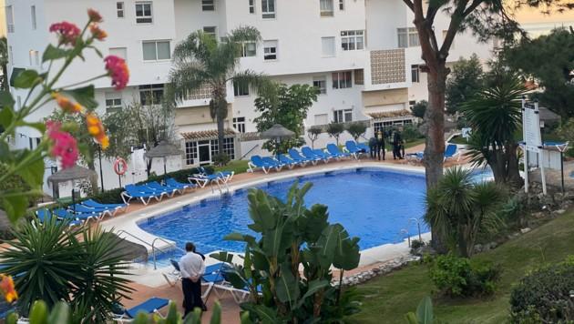 In diesem Hotelpool ereignete sich das Unglück. (Bild: AP)