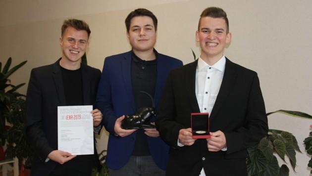 Manuel Gründling, Dominik Hitzker und David Lehner von der HLW Freistadt (Bild: HLW Freistadt)