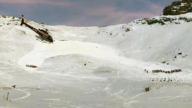 Die Lawine im Kärntner Skigebiet Heiligenblut-Großglockner verschüttete ein Kind teilweise. (Bild: APA/LPD K€RNTEN)