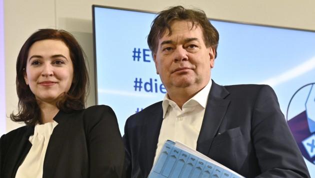 Alma Zadic soll für Grünen-Chef Werner Kogler ins Justizministerium ziehen. (Bild: APA/HANS PUNZ)