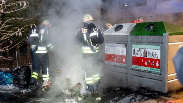 In Lienz brannte es auf einer Müllinsel. (Bild: Brunner Images)